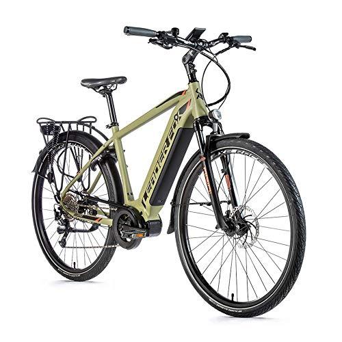 28 Zoll Trekking E Bike Leader Fox Lucas Gent Pedelec Elektro Fahrrad Mittelmotor Rh 48cm Oliv