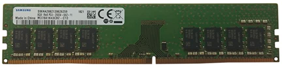 Samsung 8GB DDR4 PC4-21300, 2666MHZ, 288 PIN DIMM, 1.2V, CL 19 desktop ram memory module