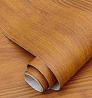 木目調壁紙壁紙自己粘着デスクトップキャビネットドアステッカー模造木材古い家具改修ステッカー装飾ボーイングフィルム-イエローチーク_60cm * 5m