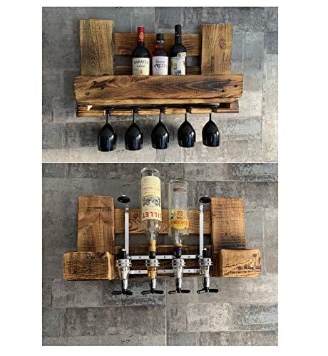 Vorteilspack GETRÄNKESPENDER BAR 4cl für 4 Flaschen + WEINREGAL klein Holzbar aus Europaletten Deutschland Österreich
