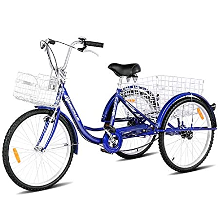 Three-Wheeled Bicycle - Goplus Adult Tricycle Trike Cruise Bike