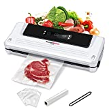 Food Saver Vacuum Sealer Machine For Food, Vaccume Sealer Machine With Vaccume Sealer Machine Kits, Protect food From Dehydration n Freezer Burn,Sous Vide Dry/Moist For Meat or Wet Food In Home Kitchen