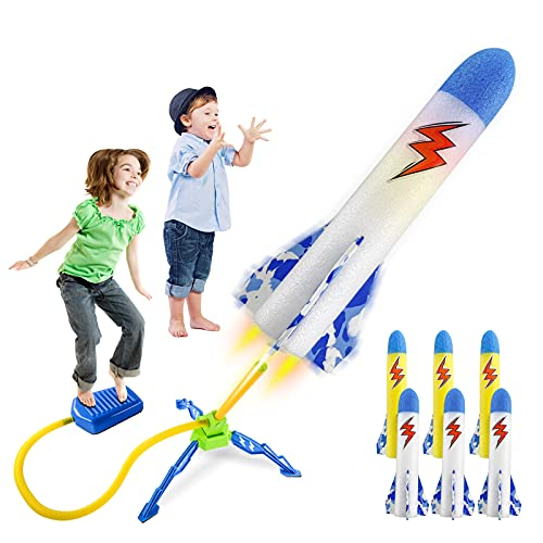 najoz Rocket Launcher for Kids Toy Rocket Launcher Glows in The Dark Outdoor Toys with 3 Led Rockets and 3 Foam Rockets Toys Gifts for Boys Girls Toddlers 3 4 5 6 Year Old