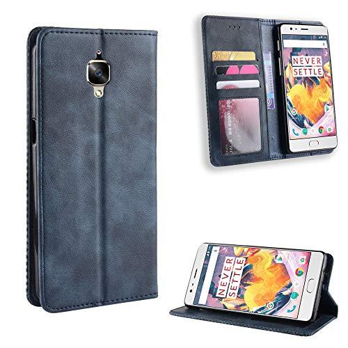 Snow Color OnePlus 3T / OnePlus 3 Hülle, Premium Leder Tasche Flip Wallet Case [Standfunktion] [Kartenfächern] PU-Leder Schutzhülle Brieftasche Handyhülle für OnePlus3T / OnePlus3 - COBYU010814 Blau