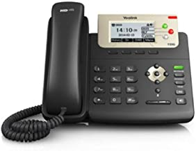 Yealink T23G IP Phone, 3 Lines. 2.8-Inch Graphical LCD. Dual-Port 10/100 Ethernet, 802.3af PoE, Power Adapter Not Included (SIP-T23G)