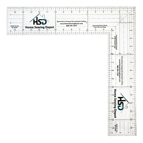 Home Sewing Depot 16 Inch Folding Easy Square Ruler