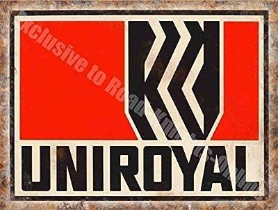 Uniroyal Reifen Vintage Garage Werbung 194 Motorsport Öl Aus Metall Stahl Wandschild