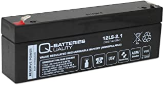 Q Batteries 12LS 2.1 12V 2,1Ah Blei Vlies Akku AGM VRLA VRLA mit VDs