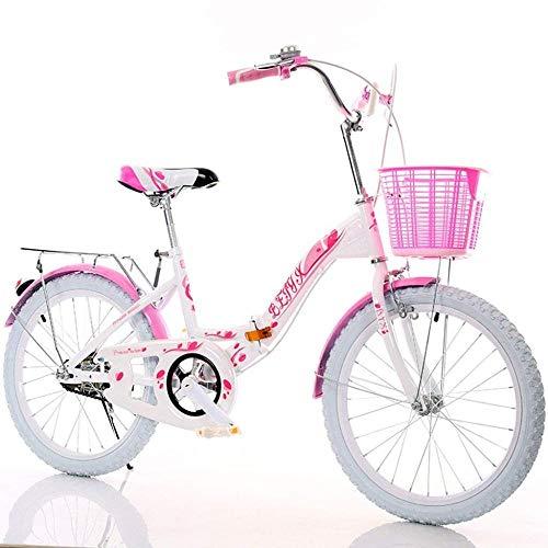 ZXC001 Moda Creative Fahrrad Urti Ragazza Leichtfahrrad Mädchen Mountainbike Anti-Skid Fahrrad Kinder 80 x 130 cm, Rosa, A