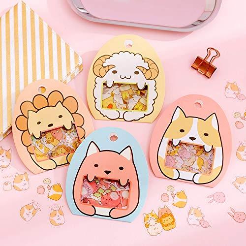 BLOUR Kawaii Stickers Cute Cartoon PVC Creative Cute Diary DIY Stickers Decorativos Stickers Scrapbooking50 Pcs/Set