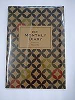 Nanarobe ナナローブ スケジュール帳 2021年 Monthly Diary マンスリーダイアリー 手帳