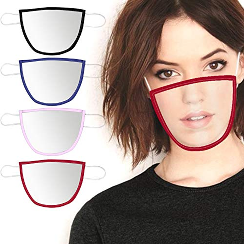 Check Out This Sentmoon [ US Stock] 4 Pcs Smile Communicator Face Bandanas with Clear Window Visible...