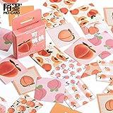 PMSMT 46 unids/Caja Lindo melocotón Decorativo papelería Pegatinas Set Kawaii Fruta Scrapbooking DIY Diario álbum Stick Etiqueta