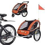 TIGGO World Convertible Jogger Remorque à Vélo 2 en 1, pour Enfants 50202-04 Orange