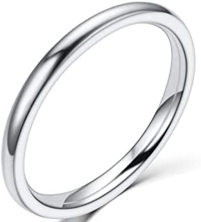 1.5mm Stainless Steel Classical Plain Stackable Wedding...