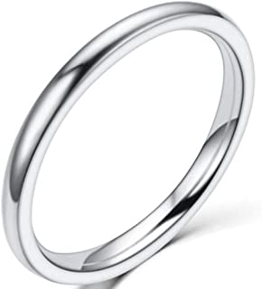 Jude Jewelers 1.5 MM Stainless Steel Stackable Ring Wedding Band