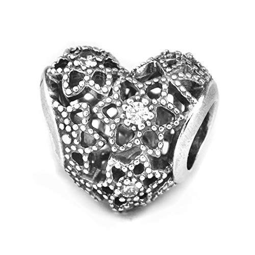 LILANG Pandora 925 Jewelry Bracelet Cuentas Naturales para Hacer Sterling-Silver- Dad'S Love Bead Clear Cz Charms Silver Berloque Perles Women DIY Gift