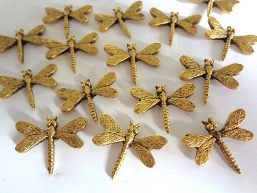 15 pieces Antique Gold DRAGONFLY Push Pins T-105AG Photo #4