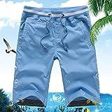 Shorts Mens Shorts De Plage D'Été Lisible Casual Male Coton Vêtement Court De Shorts pour Hommes Solides,L