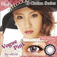 カラコン 度なし 1箱2枚入り QuoRe Carina Series/ソブレ/119224 14.5mm【VoguePink--0.00】