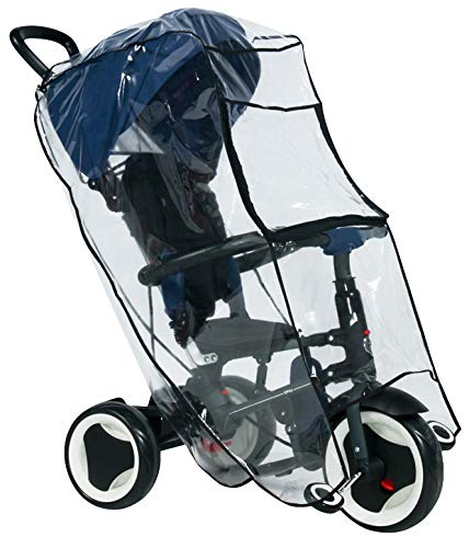 Lorelli Cubierta universal para la lluvia para el triciclo protección la lluvia, color:transparente