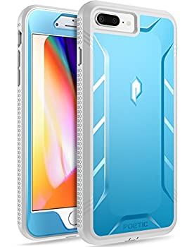 iPhone 7 Plus/iPhone 8 Plus Case Poetic Revolution [360 Degree Protection] Full-Body Rugged Heavy Duty Case w/Built-in-Screen Protector for Apple iPhone 7 Plus/iPhone 8 Plus Blue/Gray