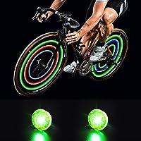 2-Pack MapleSeeker Waterproof Bicycle Wheel Lights (Green)