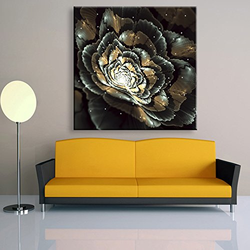 T.T-Q Pintura decorativa LED marco de fibra de vidrio pintura decoración del hogar regalo de la pared arte de la sala de estar del dormitorio 40 * 40 cm