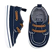 Carter's Boys Boat Shoe, Navy, 6-9 Months, Size 3 Regular US Infant
