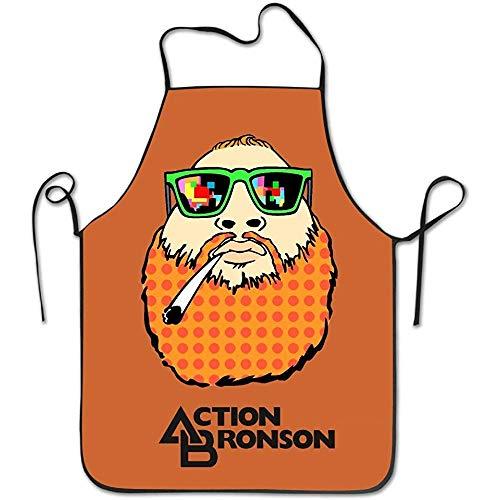 GWrix Women'S Schort Action Bronson Keuken Koken Apron, Duurzame Streep Koken, Grill Bakken