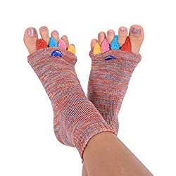 cheap Original socks with foot alignment, mixed colors and medium (7-9 women / 5-9 men) Happy Feet