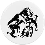 Azeeda 58mm 'Hombre-Lobo' Insignia de Botón Pin (BB00046466)