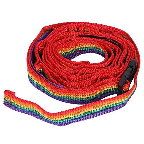 WANZSC Cuerda Colgante Multifuncional, Cinturones de Picnic Coloridos para Acampar, Senderismo, Accesorios de Viaje, Cuerda Colgante, Correa para Acampar, Correa para Tienda