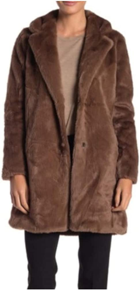 Sebby Collection Womens Faux Fur Coat