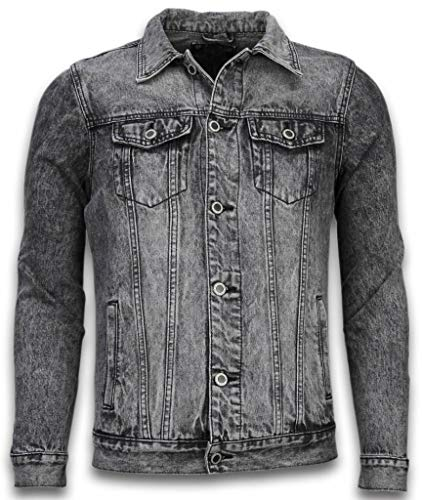 Spijkerjasje - Spijkerjasje Heren Denim Jacket - Stonewashed Look - Grijs
