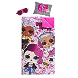 LOL Surprise Giftable Sleepover Set with Sleeping Bag, Pillow & Bonus Eye Mask, Ages 3+, Pink