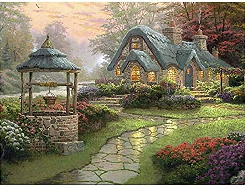 YYTTLL Cottage House Jigsaw Puzzle Village Life Rompecabezas De Madera Grandes 1000 Piezas, para Ni?os Adultos Juguetes Descompresión Grande Rompecabezas De Alta Dificultad