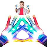 superwinky Toys for 4-5 Year Old Boys, Colorful Flashing Light Up LED Gloves for Kids Birthday Gifts...