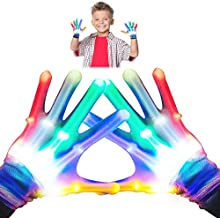 superwinky Toys for 4-5 Year Old Boys, Colorful Flashing Light Up LED Gloves for Kids Birthday Gifts for 3-7 Year Old Boys Girls Cool Toys for 3-7 Year Old Boys Girls Small Size WKUSST01