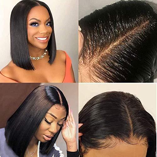 BLISSHAIR Wig Cap Colle Perruque Lace Wig - Cheveux Naturels Brésilienne - 360 Meches Bresiliennes (14 pouce)