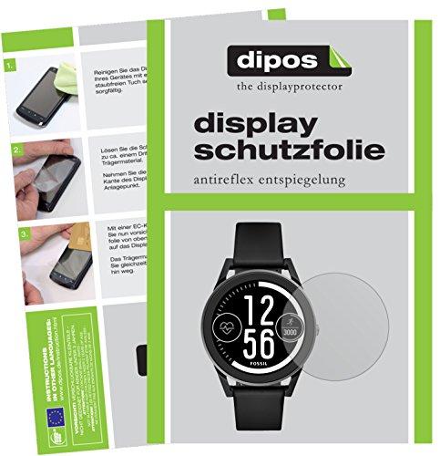 dipos I 6X Schutzfolie matt kompatibel mit Fossil Q Control Folie Bildschirmschutzfolie
