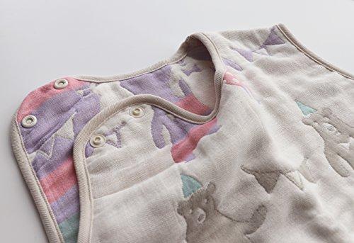 サンデシカふわふわ6重ガーゼスリーパーMサイズ(新生児~3歳頃)くま3340-9999-50赤ちゃん