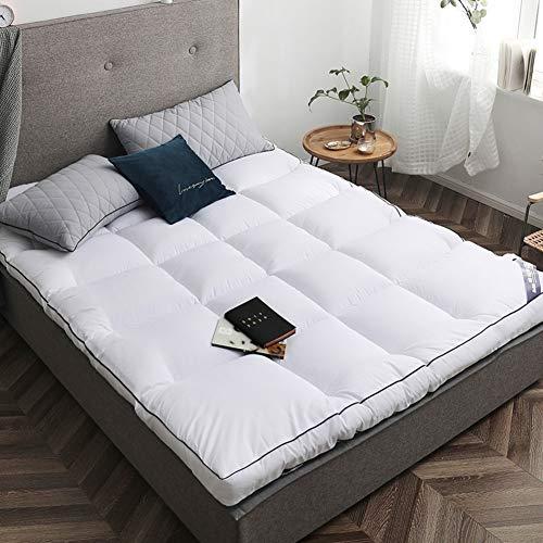 DM&FCS Verdicken Sie 8cm Falten Matratzenschutz, Atmungsaktive Nicht-Slip Japanischen Futon Tatami-matten Schlafen Matratzenauflage Skin Friendly-weiß 120x200cm(47x79inch)