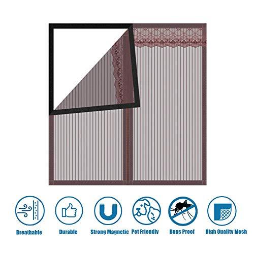 Insectenscherm voor ramen, anti-muggenbug insecten insecten insecten vliegen venster gaas net gordijn, vervanging of reparatie van deuren, voor Patio's en Garage 150x85cm(59x33inch) BRON