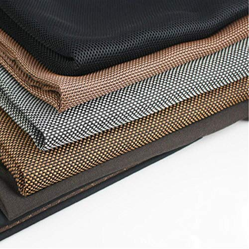 BDCJ Speaker Grill Cloth Stereo Fabric Gille Mesh Cloth Dustproof {Color-Brown&Black, Black&Gray ,Brown ,Black } (Black)