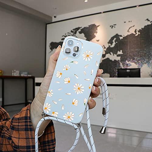 LIUYAWEI Estuche para teléfono con Cadena y cordón para el Cuello para Huawei Y6 P Smart Z 2019 P40 P10 Lite E P20 Honor 10i 8X Fundas de cordón Cruzadas Suaves y Delgadas, Kbds, para Mate 10 Lite