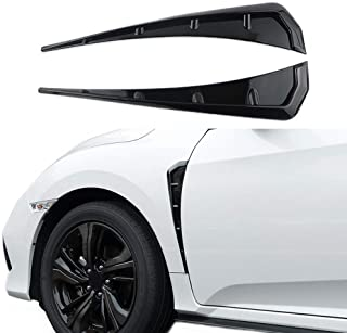 Car Fender Side Vents ABS Compatible Fender Stickers Decorative Air Flow Intake Hole Grille Spoiler Auto Exterior Accessories