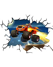 Blaze en de Monster Machines V108 Muur Crack Muur Smash Muursticker Zelfklevende Poster Muur Art Maat 1000mm breed x 600mm diep (groot)
