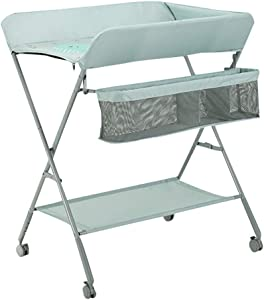 Diaper Changing Tables Baby Changing Diaper Table Adjustable Newborn Care Table Multifunctional Massage Finishing Touch Table Foldable Lifting Version Wheeled
