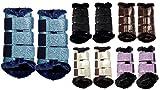 HKM 4057052213533 Guêtres – Comfort Glitter5203 Turquoise XL